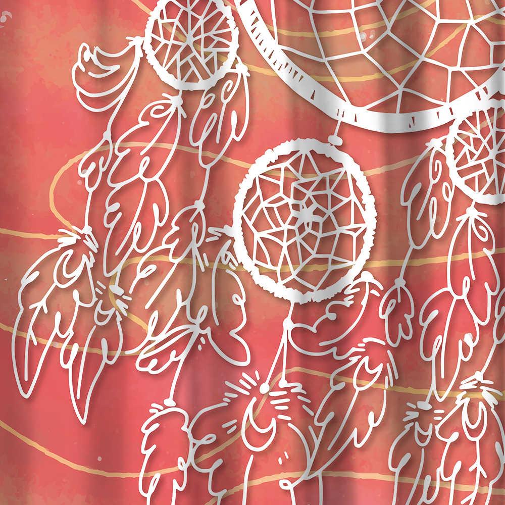 Miracille الملونة حلم الماسك دش الستار مع للماء البوليستر النسيج و 40x60 cm حمام الطابق حصيرة ل الحمام