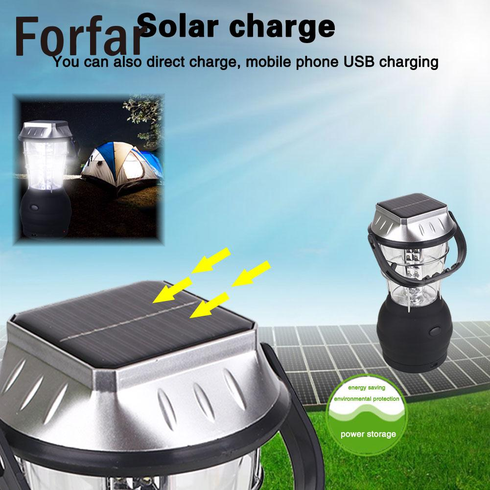 Lantern Durable Hiking DC12V Solar Camping Light Classic US Plug Car Charger Tent Lamp P ...