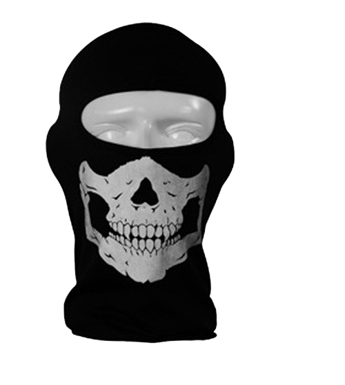 2017 Motorcycle skull deadpool Full Face Ski Mask skeleton Hap Balaclava Hood Cosplay Costume Beanie Cap Polyester funny hats halloween skeleton style cosplay costume face mask gloves set black white