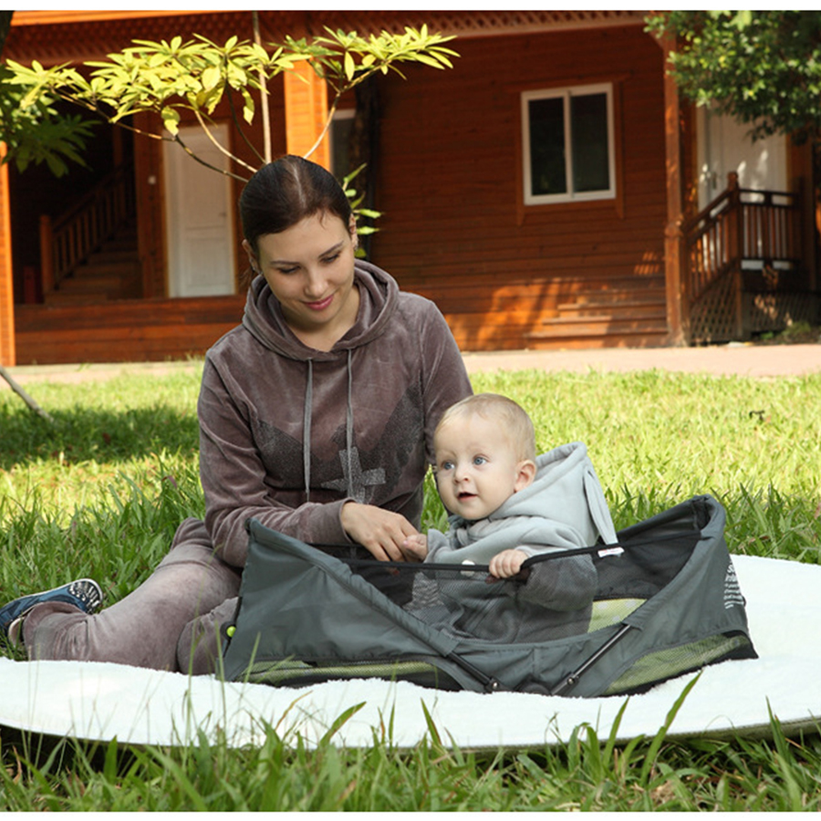 Multifunctional European and American style ventilation net cloth tide brand newborn portable bed baby folding cradle bed стоимость