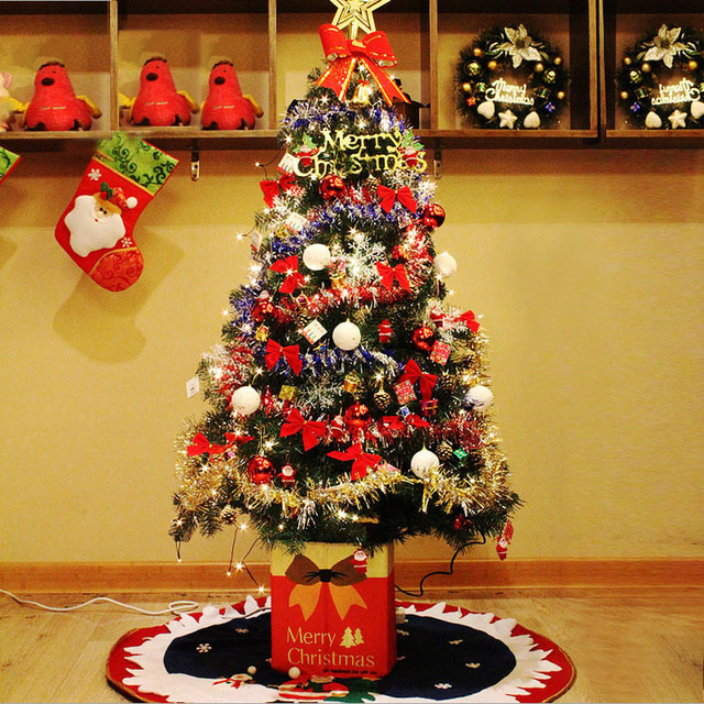 5 ft christmas family christmas tree kit 15 meters artificial christmas tree decorations diy props 5