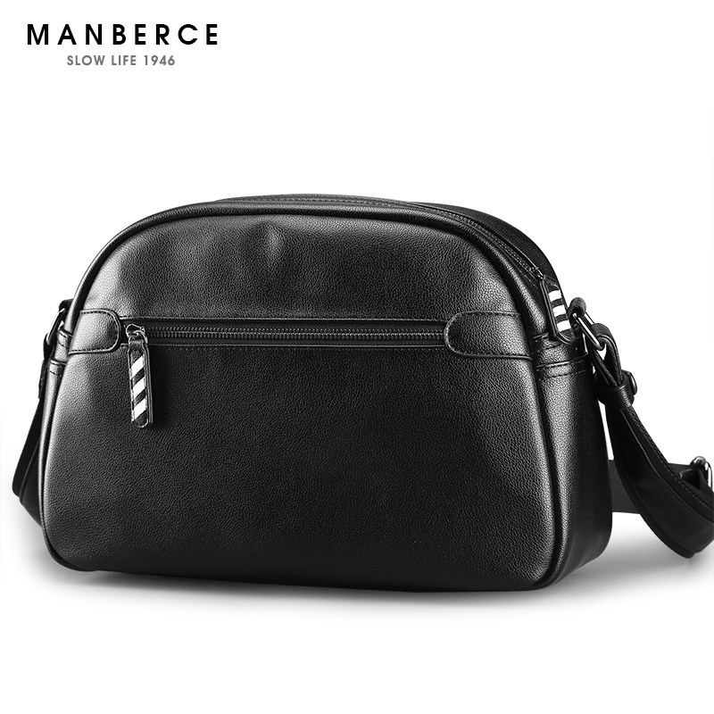 Brand MANBERCE 2018 New Fshion Large Capacity Men Shoulder Bag Casual Travel PU Messenger Bag Mens Crossbody Bag Free Shipping