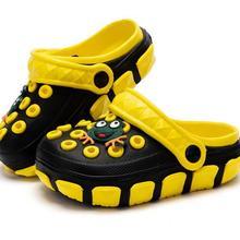 Летние уличные детские сабо из ЭВА, сандалии для мальчиков, пляжная обувь, Тапочки для мальчиков и девочек, удобные милые тапочки, детские сандалии