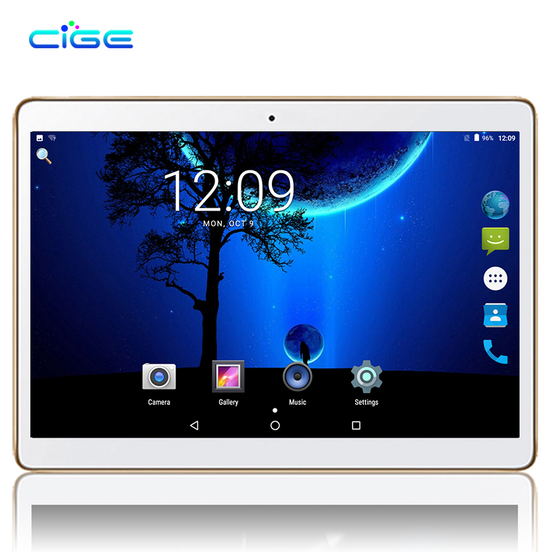 цена на CIGE newest 10.1 Inch Newest Original 3G phone tablets Quad Core tablet Android 7.0 tablet 2GB RAM 16GB ROM GPS Tablet pc wifi
