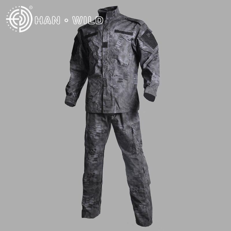 Tactique Camo veste + pantalon vêtements de chasse Ghillie costume armée uniforme boisé militaire Airsoft numérique désert Camouflage uniforme