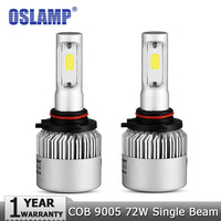 Oslamp 9005 9006 72W Car LED Headlight Bulb HB3 HB4 6500K 8000lm COB Auto Fog Light