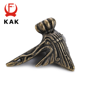 4 Uds. KAK 40x30mm caja de madera antigua patas Protector de esquina triángulo rota tallada soporte decorativo para muebles Hardware