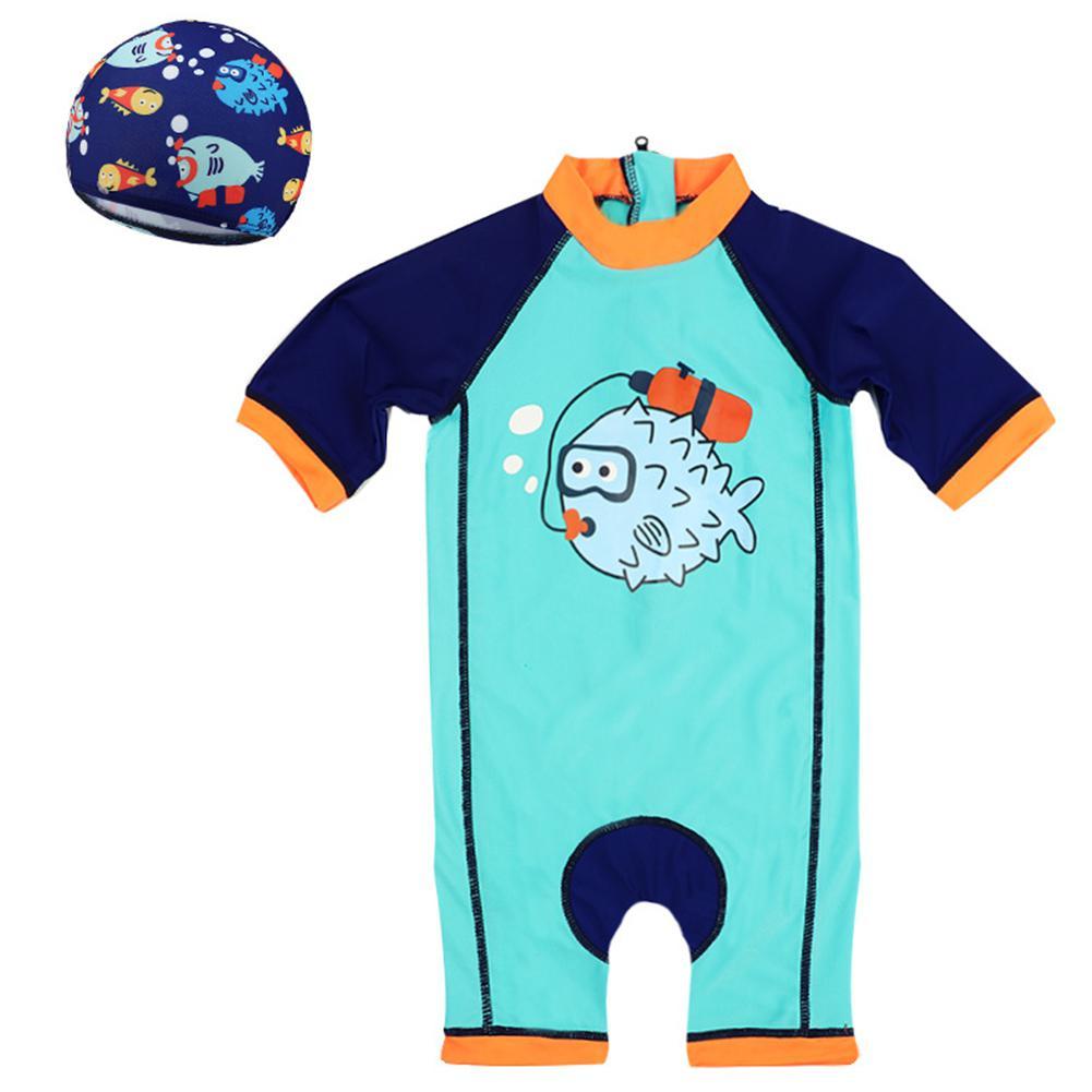 Meninos swimwear Dos Desenhos Animados Impressão One