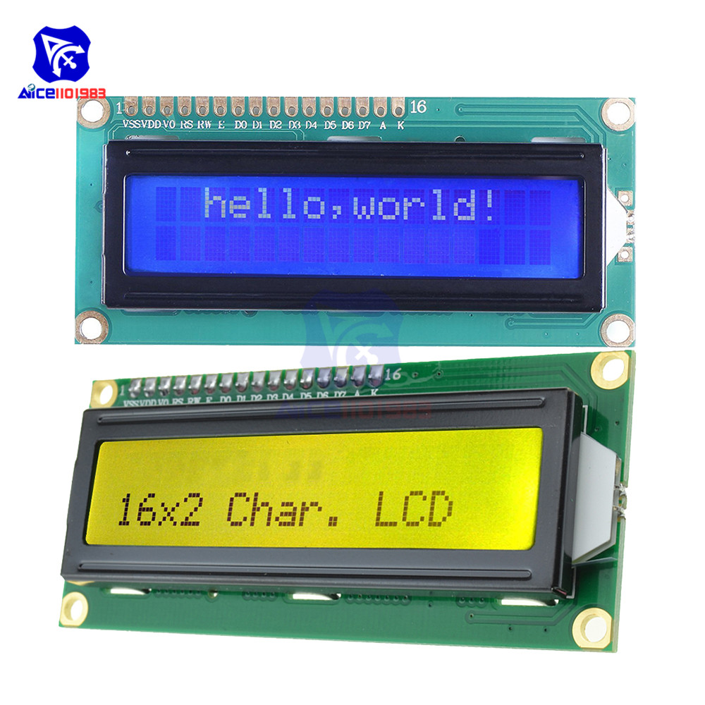 LCD1602 Display Screen With Backlight LCD Display Module Board 16*2 Characters 1602 For Arduino Robot 3.3V