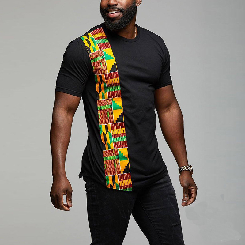 africa clothing hip hop dashiki robe africaine mens fashion tee shirt homme fitness t-shirts african dresses clothes(China)