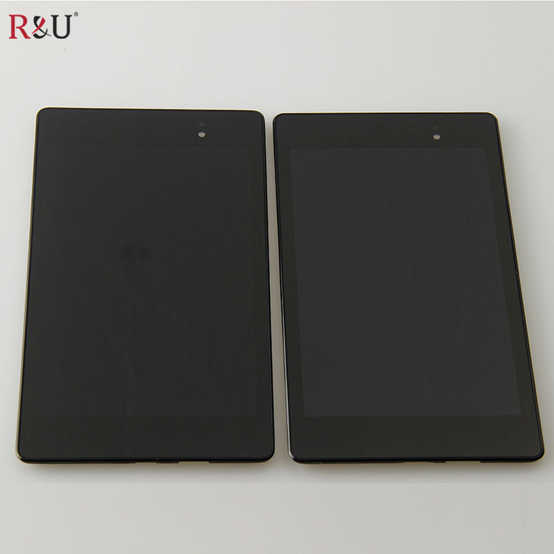 R&U lcd screen display with touch screen digitizer assembly with frame for ASUS Nexus 7 2nd Gen 2013 ME571 ME571K ME571KL