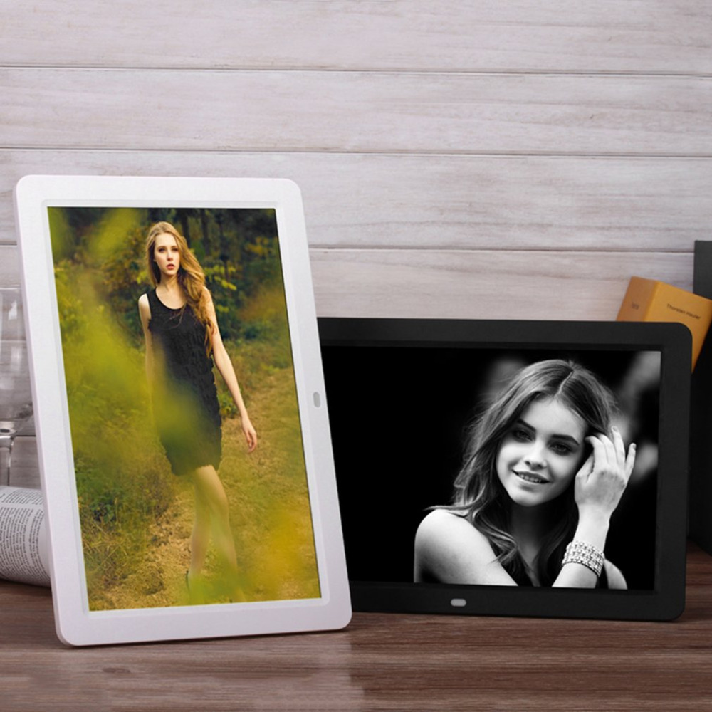 Multifunctional 12 Lcd Digital Photo Frame 1280*800 High Resolution Picture Frame With Wireless Remote Control Built-in Speaker Good Reputation Over The World Camera & Photo Accessories