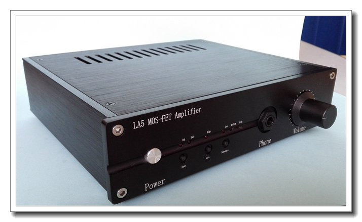 цена на LA5 MOS-FET Pure Class A Headphone Amplifier Field Effect Tube HiFi OPA2604 Headphone Amp