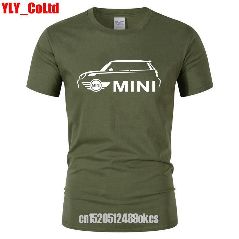 2019 Latest Mini Cooper s Print Car Men's 15 COLOR   T  -  Shirts   Men Tshirts Personality Design Graphic   T     Shirt