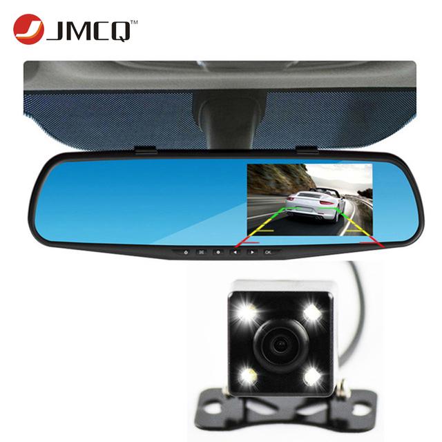 Mais novo Espelho Retrovisor Câmera Do Carro Auto Dvr Dual Lens Traço Cam Filmadora Gravador de Vídeo Registrator FHD 1080 p Night Vision DVRs