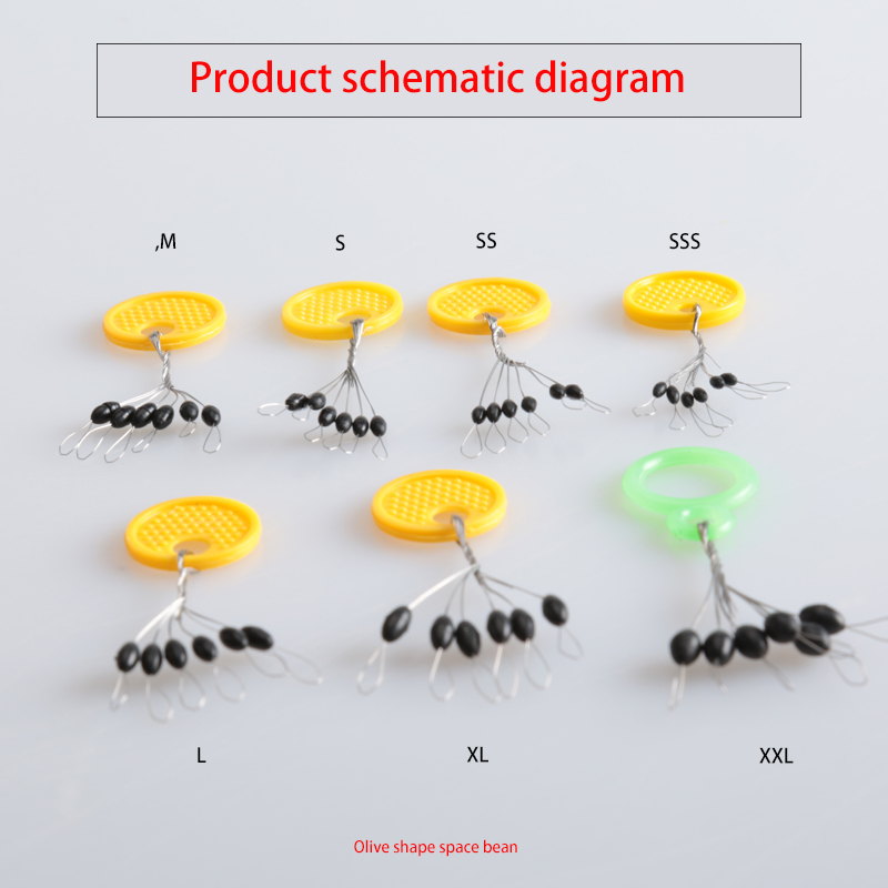 10pcs/lot 6 in 1 Size SSS /SS /S /M/ L/ XL /XXL Rubber Oval Stopper Fishing Bobber Float Connector Fishing Tackle accessories adult baby incontinence diaper nappy pdm01 6 size s m m l l xxl