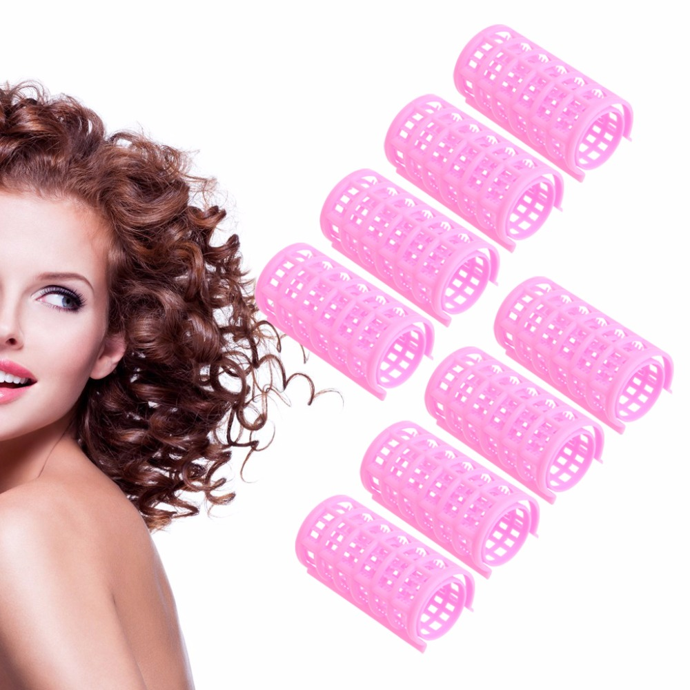 8pcs Cling Hair Salon Curlers Rollers Tool Soft Large