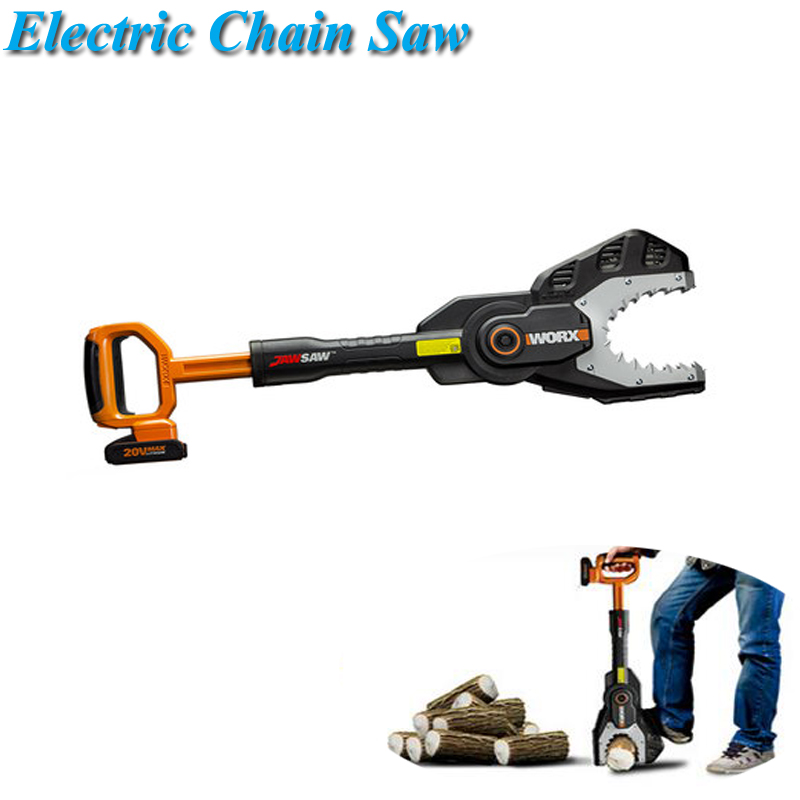 Electric Chain Saw 20V Lithium Battery Home Leisure Gardening Power Tools WG329E