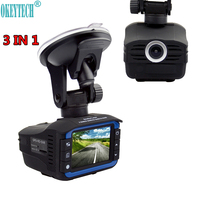 Best 3 In 1 Car DVR Anti Radar Detector GPS Resolution 720P 140 Degrees Wide Angle