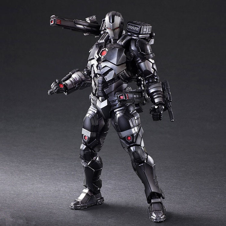 Play Arts Marvel Avengers Ironman War Machine Super Hero Black Iron man BJD Action Figure Model Toys saintgi iron man avengers generation action figures hot toys super hero collection model toy gift pa change play arts marvel