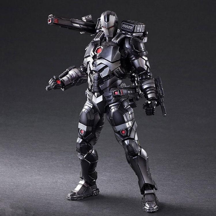 Play Arts Marvel Avengers Ironman War Machine Super Hero Black Iron man BJD Action Figure Model Toys