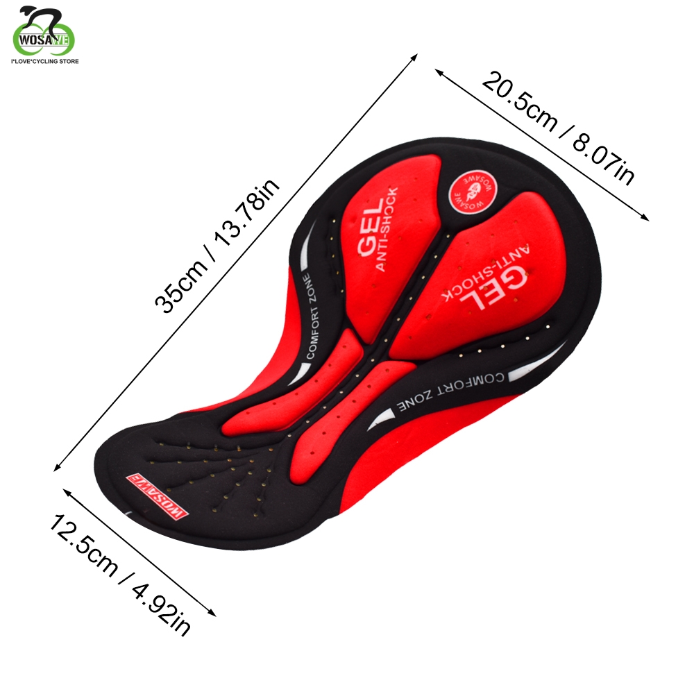 WOSAWE Men Women Cycling Shorts Cushion 3D Gel Pad Breathable Road MTB Bike Bicycle Riding Cushion DIY Cycling Underwear Padded in Cycling Shorts from Sports Entertainment