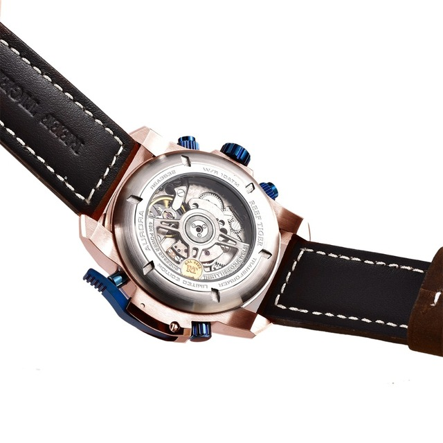 Tiger RT Brand Military Leather Strap Automatic Watch 4