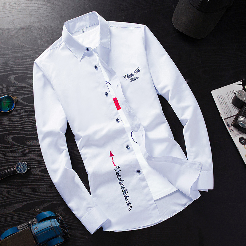 Cheap Wholesale 2019 New Spring Summer Autumn Hot Selling Men's Fashion Casual  Work Shirts MC115