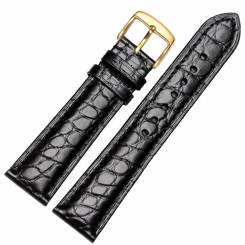 18 мм 20 мм 22 мм крокодиловый ремешок кожаный ремешок, мужские или женские часы аксессуары Часы с булавкой черный коричневый Бесплатная доставка