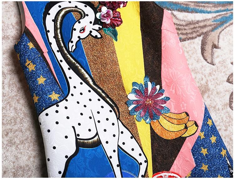 Maiusc Carino Print Donne Maniche Primavera Borda Mini Animal Senza Jacquard Che Nuova Abiti 2019 Paillettes Estate dPxPHqw