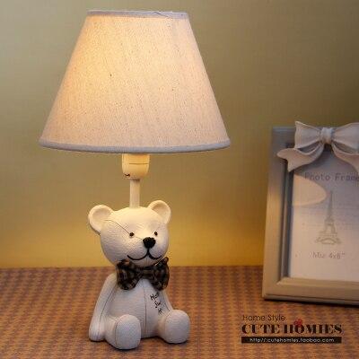 Teddy Bear Lamps Childrenu0027s Bedroom Decor Resin Table Lamp