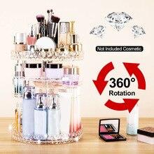 Косметический ящик для хранения акриловый 360 градусов вращающийся Алмазный Узор духи косметические продукты ванная комната макияж Органайзер