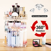 Cosmetics Storage Box Acrylic 360 Degree Rotating Diamond Pa