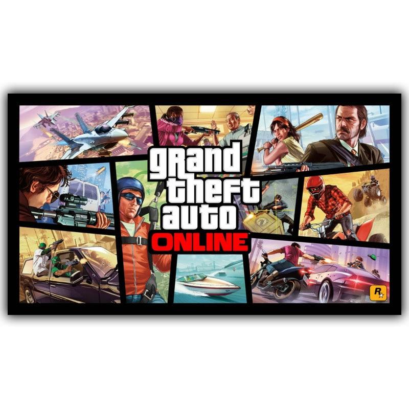 Grand Theft Auto V GTA 5 Game Hot Artistic Silk Fabric Poster Print 30x53 50x89cm Room D ...