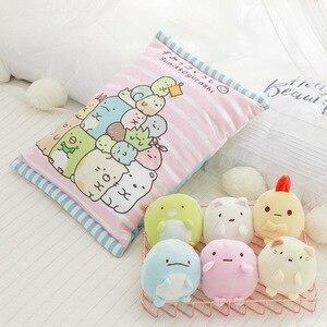 Image 3 - סוגים שונים שקית של Sumikko Gurashi & אוגר & חזיר וארנב ברווז וחתולים & לווייתן בפלאש כרית רך קריקטורה בעלי החיים בובת ילדים מתנות