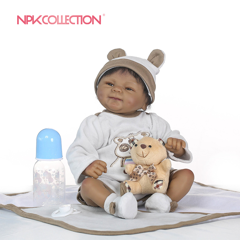 NPKCOLLECTION lifelike boneca reborn soft silicone real silicone reborn baby dolls black bebe hot toys Christmas
