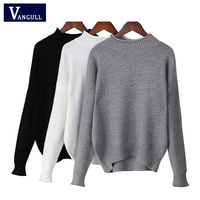 Turtleneck Knitting Sweater 2017 New Women Casual Cotton Knitted Winter Sweater Pullover Female 2017 Autumn Winter