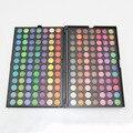 2016 nova Pro 168 cores da paleta da sombra de maquiagem sombra Palette com primer olho marca de maquiagem