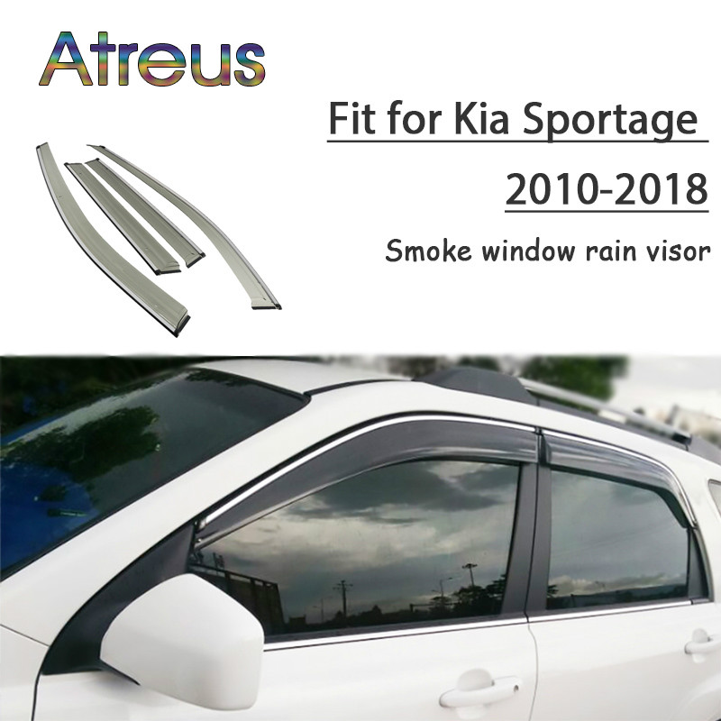 все цены на Atreus 1set ABS For 2018 2017 2016 2015 2014-2010 Kia Sportage Accessories Car Vent Sun Deflectors Guard Smoke Window Rain Visor онлайн