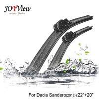 RAINFUN U Hook Size 22 20 Fit For Dacia Sandero 2012 Onwards High Quality Windscreen Wipers