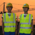 High Visiblity Reflective Safety Vest Filament Fabric With Mid-Indensity Polyester Reflective Fabric for Traffic Safety