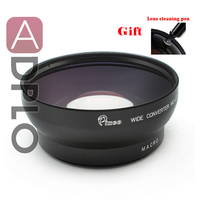 Professional 67mm 0 45X Wide Angle Lens With Macro Suit For Canon Nikon Sony Camera With