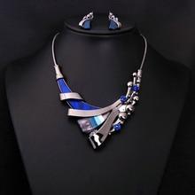 Известный бренд, 2 предмета, эффектное ожерелье+ серьги, Высококачественная разноцветная короткая женская цепочка, женский ювелирный набор