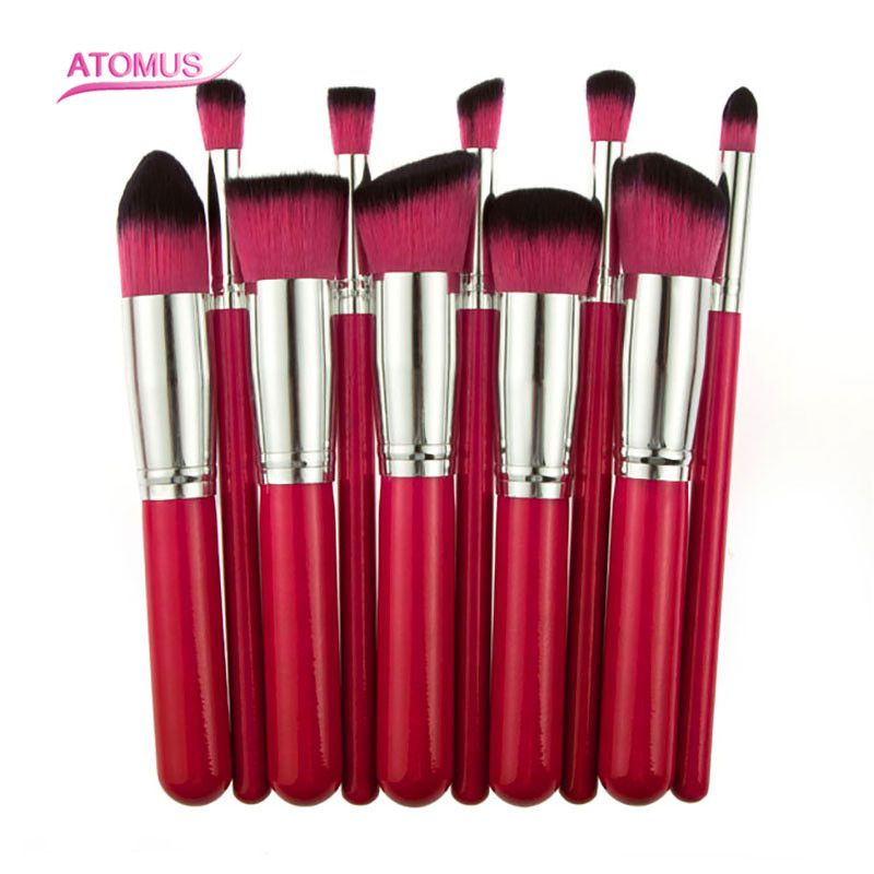 10Pcs Professional Eyeshadow Brush Soft Pony Hair Makeup Brushes Set,Eye Make up Cosmetic Brush For Women HT10-7 free shipping durable 32pcs soft makeup brushes professional cosmetic make up brush set