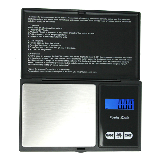 High precision portable digital 200g 0.01g weighing jewelry gold household scale electronic balance weight