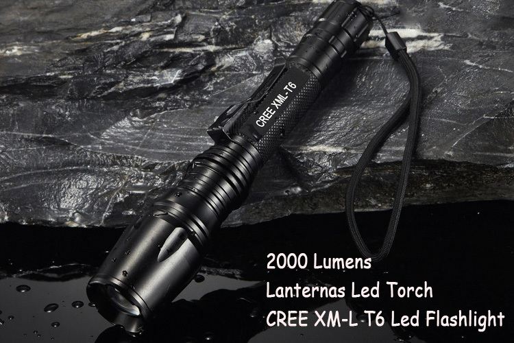 Lanternas Led CREE 10W XM L T6 Mini Flashlight Linternas 2000 Lumens Zoom In & Out Lights LED Torch Searchlight Flash Light фонарик ultrafire 2000 lanternas cree xm l t6 18650 linternas xml t6