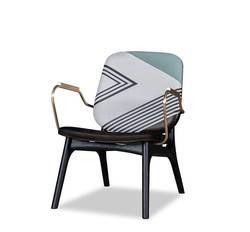 Итальянский дизайнерский стул с подлокотником/тканью и/или кожаной обивкой