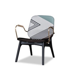 Italy Design Chair with Armrest / Fabric and/or Leather upholstery