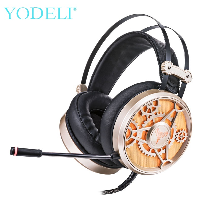 YODELI Best Wired Gaming Headset casque gamer Game Headphones Virtual 7.1 Surround Sound Stereo With Microphone for Computer salar c13 wired gaming headset deep bass game headphones best casque gamer with mic led light headphone for computer pc gamer