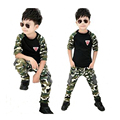 3-7Y camouflage clothing sets New spring autumn cotton long-sleeved O-neck sportswear leisure boy girl cool tracksuits hot sale